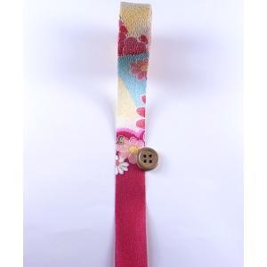 一越ちりめんカットロール・柄・2.5cm幅(赤紫)|nunogatari