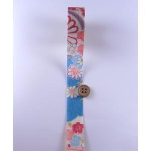 一越ちりめんカットロール・柄・2.5cm幅(水色)|nunogatari