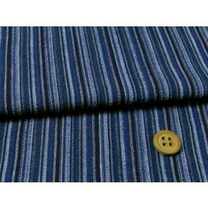 しじら織り生地・たて縞(藍色)|nunogatari