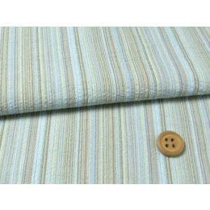 しじら織り生地・たて縞(水色)|nunogatari