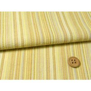 しじら織り生地・たて縞(黄色)|nunogatari