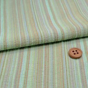 しじら織り生地・たて縞(緑)|nunogatari