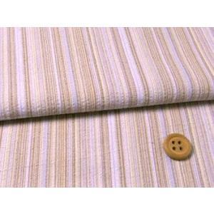 しじら織り生地・たて縞(薄紫)|nunogatari