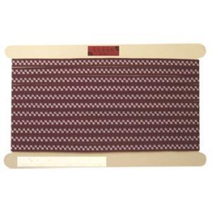 袋織り和テープ・チェック(ワイン色)|nunogatari