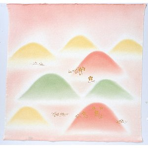 風呂敷68cm角 正絹ちりめんハケ染・山取桜 ピンク|nunogatari
