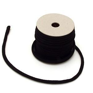 ちりめん丸ひも・無地・3ミリ(実寸約4ミリ) 黒|nunogatari