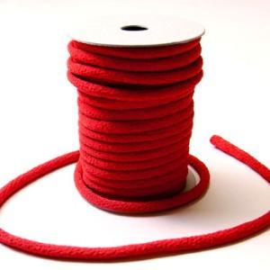 ちりめん丸ひも・無地・3ミリ(実寸約4ミリ) 赤|nunogatari