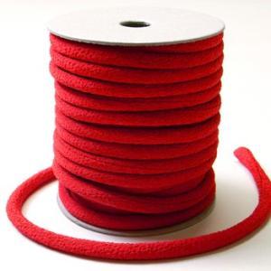 ちりめん丸ひも・無地・4ミリ(実寸約5-6ミリ) 赤|nunogatari