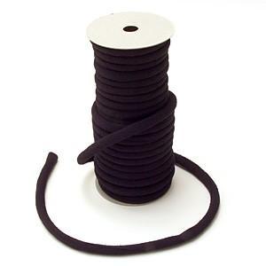 ちりめん丸ひも・無地・8ミリ(実寸約9-10ミリ) 黒紫 nunogatari