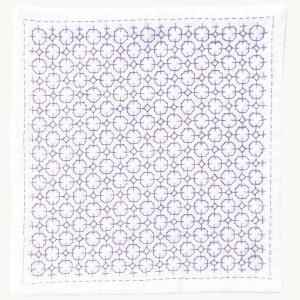 刺し子キット ハンカチiine/イーネ 紫陽花|nunogatari