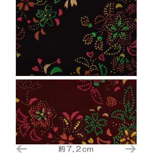 印伝調生地・点描小花(92×50cm)|nunogatari