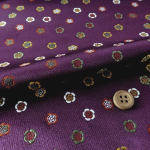 金襴生地(金らん)祇園木瓜紋(紫)|nunogatari