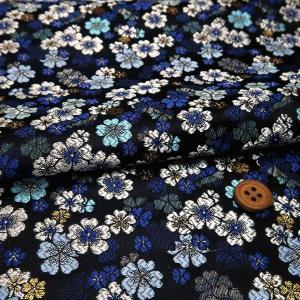 金襴生地(金らん)瑠璃桜(紺色)|nunogatari