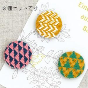 こぎんキット・くるみボタン3個セット(森)|nunogatari