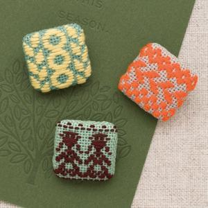 こぎんキット・くるみボタン四角 3個セット(フォークロア)|nunogatari
