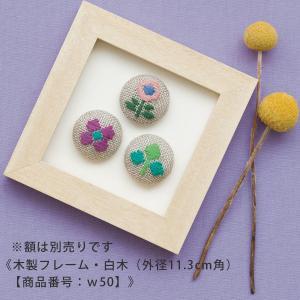 こぎんキット・くるみボタン3個セット(のはら)|nunogatari
