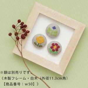 こぎんキット・くるみボタン3個セット(つぼみ)|nunogatari