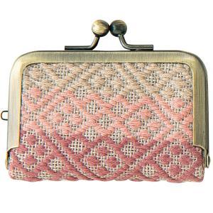 こぎんキット 縫わないがま口 コインケース(流れ模様)|nunogatari