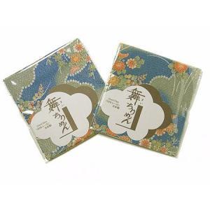 ちりめんカットクロス・雲取り菊(青緑)22×33cm|nunogatari