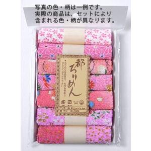 レーヨンちりめん・ピンク系柄カットクロスセット(22×16.5cmが7枚入)|nunogatari