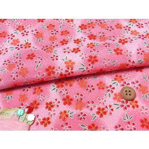 ちりめん生地・月光小桜(ピンク)|nunogatari