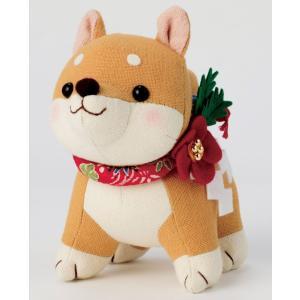 干支ぬいぐるみキット・福招き犬(茶柴)|nunogatari