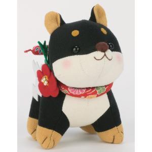 干支ぬいぐるみキット・福招き犬(黒柴)|nunogatari