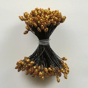 つまみ細工向き アルミダイヤペップ(金/糸黒)144本入|nunogatari
