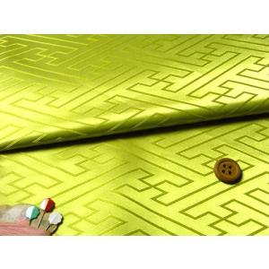 ジャカード生地・立体さやがた(黄緑)|nunogatari