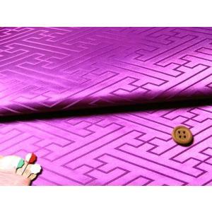 ジャカード生地・立体さやがた(紫)|nunogatari