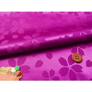 ポリエステルりんず・リバーシブル桜柄(赤紫)|nunogatari