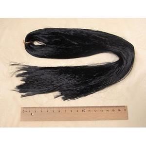 人形用髪の毛/スガ糸・イルミ(レーヨン) 黒 70cm|nunogatari