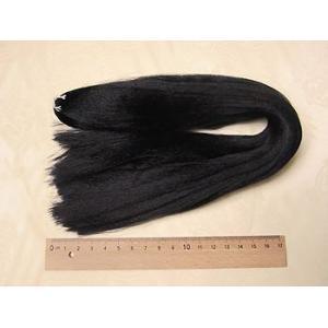 人形用髪の毛/スガ糸・正絹(シルク) 黒 70cm|nunogatari