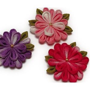 つまみ細工キット・お花のブローチ3個セット|nunogatari