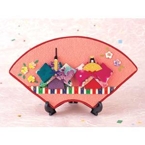 限定販売/ちりめん手芸キット・桃の節句 上巳の扇面飾り|nunogatari