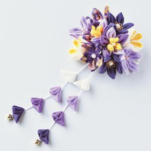 つまみ細工キット・はなやぎ髪飾り(紫)|nunogatari