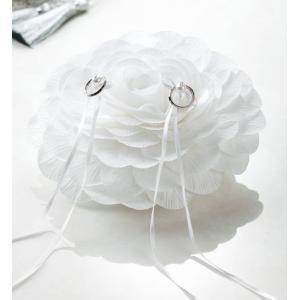 リングピロー手作りキット(縫製済ピロー入)フィオーレ ホワイト|nunogatari