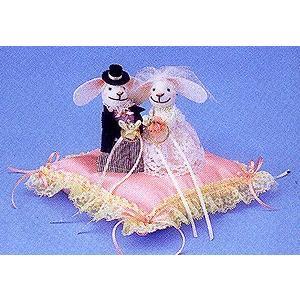 キット・ウサギのリングピロー(ピンク) nunogatari