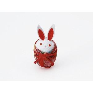 ちりめんつるし飾りパーツ(完成品)・タマゴ型うさぎ|nunogatari
