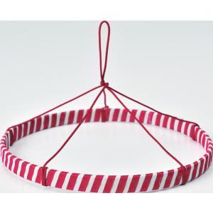 つるし紐付き 紅白リング(つるしびな用)20cm|nunogatari