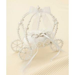 リングピロー手作りキット(縫製済ピロー入)エターナル 馬車型・白|nunogatari
