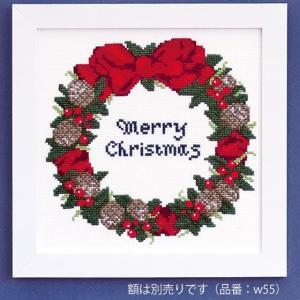 クリスマス クロスステッチキット・木の実のリース|nunogatari