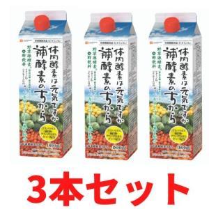お酢飲料 補酵素のちから カロリーハーフ キウイ味 1800ml (3本セット)