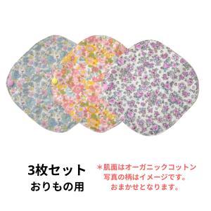 布ライナーS お買い得 3枚セット オーガニック 軽い日 おりもの用 人気 布ナプキン 柄は選べません