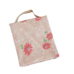 ポーチ 2ポケット 持ち手付き 生理用ポーチ SP-2 ピンク 花柄 セール|nunonapu-soala