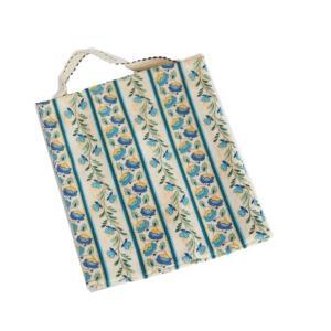 ポーチ 2ポケット 持ち手付き 生理用 化粧用 サニタリーポーチ SP-3 ブルー セール|nunonapu-soala