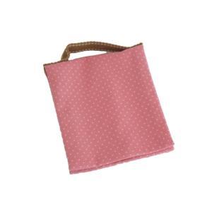 ポーチ 水玉小 ピンク 持ち手付き 生理用 化粧用 サニタリーポーチ SP-8 セール|nunonapu-soala