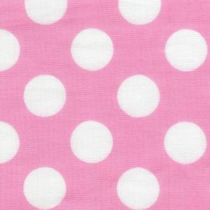 3b387f8e489917 綿二重ガーゼ・ダブルガーゼプリント/キャンディー ドット 約2.2cm水玉 ピンク系 11色 1m単位 ポイント