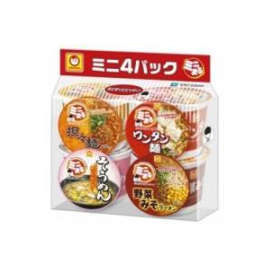 【送料無料】東洋水産マルちゃんミニまる 4個パック×6(24個入)ミニカップ4種類(坦々麺、ワンタン麺、野菜味噌、そうめん)