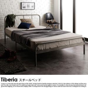 デザインスチールベッド Tiberia【ティベリア】ボンネルコイルハードマットレス付 ダブル|nuqmo